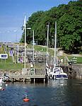Sweden, Goetaland, Berg: Bergs Slussar, watergate at Goeta-Kanal | Schweden, Goetaland, Berg: Bergs Slussar - Schleusentreppe am Goeta-Kanal