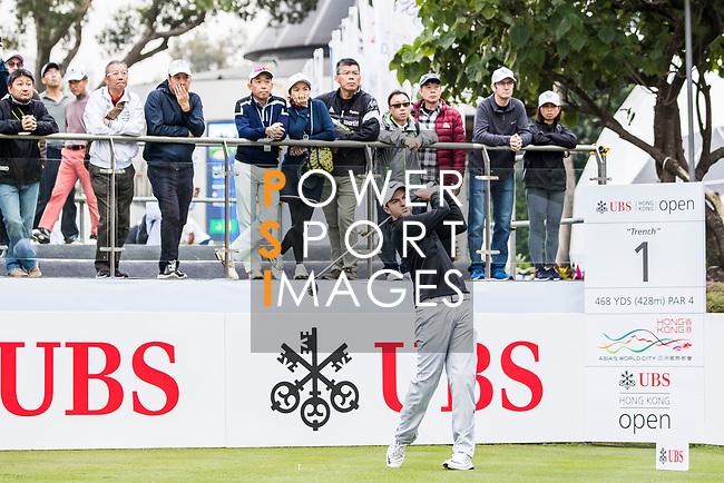 Ashley Chesters of England tees off during the day three of UBS Hong Kong Open 2017 at the Hong Kong Golf Club on 25 November 2017, in Hong Kong, Hong Kong. Photo by Yu Chun Christopher Wong / Power Sport Images
