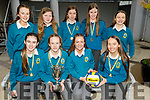 Mercy Mounthawk 1st year students, winners of the VAI Post Primary School Spikeball Girls Cup won last Thursday in Galway, pictured at the school on Monday.<br /> Seated l to r: Kelly Fitzgerald, Aoibhinn O'Connor Mac Carthy (Captain), Rachel O'Mahoney and Lily Collins.<br /> Back l to r: Sophie Hassett, Shannon Martin, Jessica McGibney, Lily and Aoife O'Brien.