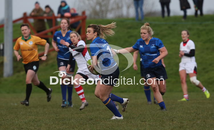 Sunday 3rd December 2017; Ulster Women vs Leinster Women<br /> <br /> Susan Vaughan during the Women's Inter-Pro between Ulster and Leinster at Dromore RFC, Barbon Hill, Dromore, County Down, Northern Ireland. Photo by John Dickson / DICKSONDIGITAL