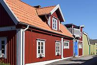 Häuser auf Halbinsel Björkholmen in Karlskrona, Provinz Blekinge, Schweden, Europa, UNESCO-Weltkulturerbe<br /> houses on Björkholmen in Karlskrona, Province Blekinge, Sweden