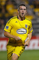 21 AUGUST 2010:  Jason Garey of the Columbus Crew (9) during MLS soccer game between Colorado Rapids vs Columbus Crew at Crew Stadium in Columbus, Ohio on August 21, 2010.