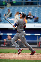 Lehigh Valley IronPigs right fielder Dylan Cozens (31) at bat during a game against the Syracuse Chiefs on May 20, 2018 at NBT Bank Stadium in Syracuse, New York.  Lehigh Valley defeated Syracuse 5-2.  (Mike Janes/Four Seam Images)