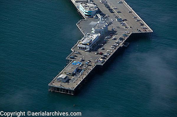aerial photograph Santa Cruz Pier, California