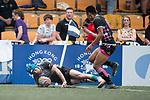 CRFA Gladiators vs Devil's Advocate Silver Dragons during the Shield Final as part of the GFI HKFC Rugby Tens 2017 on 06 April 2017 in Hong Kong Football Club, Hong Kong, China. Photo by Juan Manuel Serrano / Power Sport Images