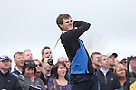 Celebrity Golf @ Golf Live.Jamie Murray tees off the 1st..Celtic Manor Resort.10.05.13.©Steve Pope