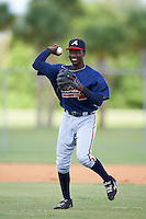 Atlanta Braves Yunior Severino (17) during practice before an Instructional League game against the Washington Nationals on September 30, 2016 at Space Coast Stadium in Melbourne, Florida.  (Mike Janes/Four Seam Images)
