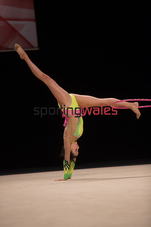 British Gymnastics Championships 2017<br /> Abigail Hanford<br /> Liverpool Echo Arena<br /> 30.07.17<br /> ©Steve Pope - Sportingwales