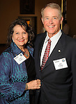 Linda and Joe Fowler at the OTC Board Dinner hosted by the Greater Houston Convention and Visitors Bureau at the Julia Ideson Library Saturday April 28,2012. (Dave Rossman Photo)