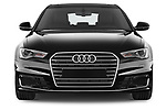 Car photography straight front view of a 2015 Audi A6 S Line 5 Door Wagon