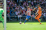 Atletico de Madrid's Saúl Ñígez and SD Eibar's Florian Lejeune during Liga Liga match between Atletico de Madrid and SD Eibar at Vicente Calderon Stadium in Madrid, May 06, 2017. Spain.<br /> (ALTERPHOTOS/BorjaB.Hojas)