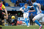 St Johnstone v Partick Thistle…11.02.17     Scottish Cup    McDiarmid Park<br />Liam Craig's shot is saved by Tomas Cerny<br />Picture by Graeme Hart.<br />Copyright Perthshire Picture Agency<br />Tel: 01738 623350  Mobile: 07990 594431