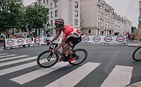 Jurgen Roelandts (BEL/Lotto-Soudal) in the streets of Antwerp<br /> <br /> 2017 National Championships Belgium - Elite Men - Road Race (NC)<br /> 1 Day Race: Antwerpen > Antwerpen (233km)