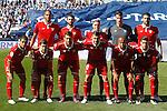 Sevilla FC's team photo with Steven N'Zonzi, Nico Pareja, Samir Nasri, Sergio Rico, Vicente Iborra, Wissam Ben Yedder, Luciano Vietto, Franco Vazquez, Vitolo, Mariano Ferreira and Sergio Escudero during La Liga match. October 15,2016. (ALTERPHOTOS/Acero)