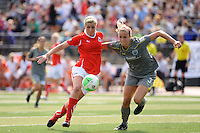 The Philadelphia Independence defeated the Washington Freedom 1-0 in overtime during the first round of the 2010 Women's Professional Soccer (WPS) playoffs presented by MedImmune at John A. Farrell Stadium in West Chester, PA, on September 19, 2010.