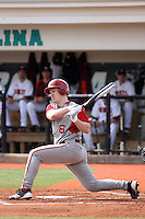 T.C. Knipp #6 of the University of Indiana Hoosiers at bat during a game against the Virginia Tech Hokies at Watson Stadium at Vrooman Field in Conway, South Carolina on February 18, 2011. Photo by Robert Gurganus/Four Seam Images