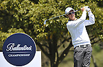 JEJU, SOUTH KOREA - APRIL 25:  Mikko Ilonen of Finland tees off on the 14th hole during the Round Three of the Ballantine's Championship at Pinx Golf Club on April 25, 2010 in Jeju, South Korea. Photo by Victor Fraile / The Power of Sport Images