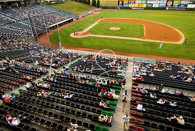 Baseball fans watch a game during the Charlotte Knights 2008 season.