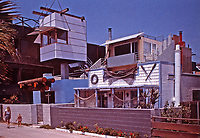 Norton House in Venice Beach, 1984. Designed by Frank Gehry in Post-Modern style. Photo, April 2000.