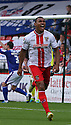 Darius Charles of Stevenage celebrates scoring their first goal<br />  Stevenage v Oldham Athletic - Sky Bet League 1 - Lamex Stadium, Stevenage - 3rd August, 2013<br />  © Kevin Coleman 2013