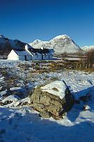 Buachaille Etive Mor and Blackrock Cottage, Glencoe, Highland<br /> <br /> Copyright www.scottishhorizons.co.uk/Keith Fergus 2011 All Rights Reserved