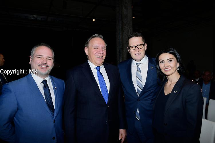 Le ministre quebecois de l'environnement Benoit Charette<br />  lors du<br /> 75 ieme d' Hydro-Quebec , avril 2018, a la SAT.<br /> <br /> <br /> PHOTO : Agence Quebec Presse  <br /> <br /> <br /> PHOTO :  Agence Quebec Presse