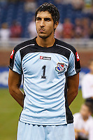 Panama goalkeeper Jamie Penedo (1) before the CONCACAF soccer match between Panama and Guadeloupe at Ford Field Detroit, Michigan.