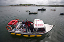 25/05/15<br /> <br /> The Instow to Appledore ferry comes alongside the quay in Appledore, North Devon on bank holiday Monday.<br /> <br /> All Rights Reserved - F Stop Press.  www.fstoppress.com. Tel: +44 (0)1335 418629 +44(0)7765 242650
