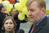 Brent Central Liberal Democrat MP Sarah Teather with Charles Kennedy campaigning in a by-election, Hartkepool.