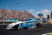 Sep 2, 2019; Clermont, IN, USA; NHRA funny car driver John Force during the US Nationals at Lucas Oil Raceway. Mandatory Credit: Mark J. Rebilas-USA TODAY Sports