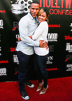 HOLLYWOOD, LOS ANGELES, CA, USA - SEPTEMBER 02: DeVon Franklin and Meagan Good arrive at The Hollywood Confidential Open Forum 'Staying Power: Building Legacy & Longevity in Hollywood' Event held at the Montalban Theatre on September 2, 2014 in Hollywood, Los Angeles, California, United States. (Photo by Xavier Collin/Celebrity Monitor)