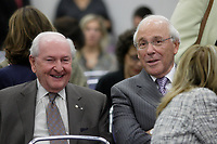 September 11, 2012 - Montreal (Quebec) CANADA - CRTC hearing on Astral acquisition by Bell Canada - <br />   Andre Bureau,Chairman of the Board, ASTRAL Media and former head of the CRTC (L) and Ian Greenberg, President and CEO, Astral media