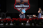Rainey Booska during the Break Away and Tie Down Roping Back Number presentation at the Junior World Finals. Photo by Andy Watson. Written permission must be obtained to use this photo in any manner.