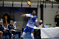 06-03-2021: Volleybal: Amysoft Lycurgus v Active Living Orion: Groningen Lycurgus speler Jerome Cross