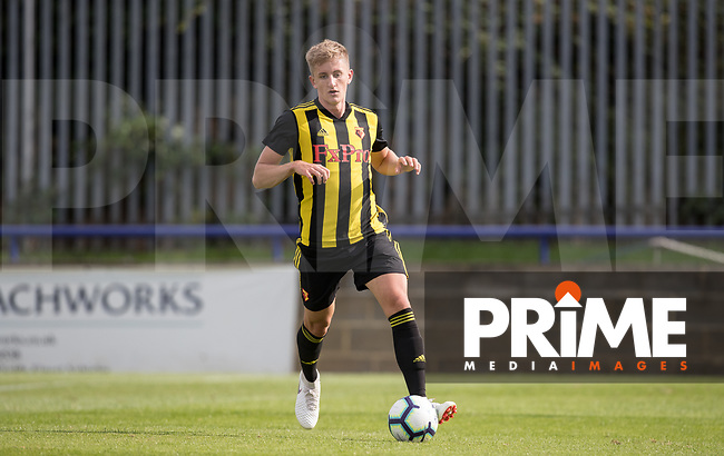 Ryan Suckling of Watford during the Professonal Development League match between Watford U23 and Sheffield United U23 at The Maurice Rebak Stadium, Summers Lane, England on 17 August 2018. Photo by Andy Rowland.