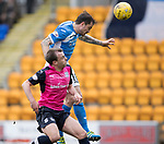St Johnstone v Dundee…11.03.17     SPFL    McDiarmid Park<br />Paul Paton heads saints into a 1-0 lead<br />Picture by Graeme Hart.<br />Copyright Perthshire Picture Agency<br />Tel: 01738 623350  Mobile: 07990 594431