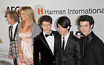 Rod Stewart,Penny Lancaster,Nick Jonas,Joe Jonas & Kevin Jonas at The Clive Davis / Recording Academy Annual Pre- Grammy Party held at The Beverly Hilton Hotel in Beverly Hills, California on February 07,2009                                                                     Copyright 2009 Debbie VanStory/RockinExposures
