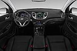 Stock photo of straight dashboard view of 2018 Hyundai Tucson Limited 5 Door Suv Dashboard