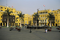 Lima, Peru - Plaza Mayor, a World Heritage Site, Fountain