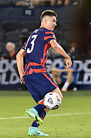 KANSAS CITY, KS - JULY 15: Matthew Hoppe #13 of the United States with the ball during a game between Martinique and USMNT at Children's Mercy Park on July 15, 2021 in Kansas City, Kansas.