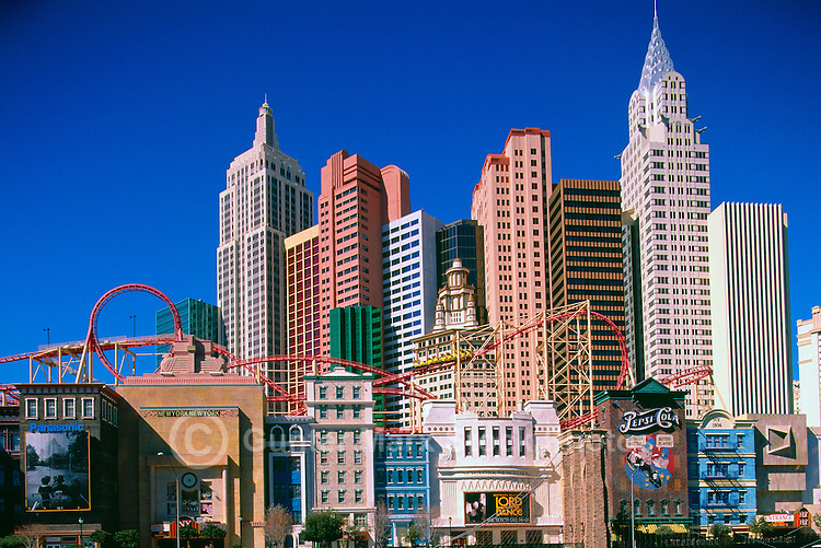 Las Vegas, Nevada, USA - New York-New York Hotel and Casino on The Strip (Las Vegas Boulevard)