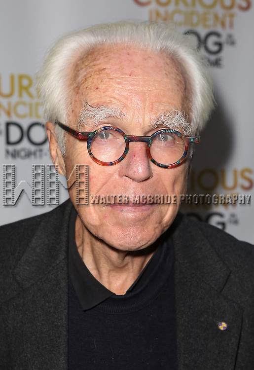 John Guare attends the Broadway Opening Night Performance of 'The Curious Incident of the Dog in the Night-Time'  at the Barrymore Theatre on October 5, 2014 in New York City.