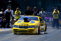 Apr. 13, 2012; Concord, NC, USA: NHRA pro stock driver Jeg Coughlin during qualifying for the Four Wide Nationals at zMax Dragway. Mandatory Credit: Mark J. Rebilas-