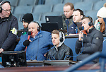 Fraser Aird and Tom Walsh doing TV commentary with Tom Miller