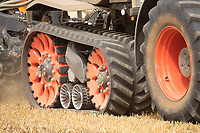14-8-2021 Tracks on a Claas tractor <br /> ©Tim Scrivener Photographer 07850 303986<br />      ....Covering Agriculture In The UK....