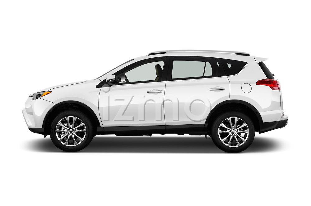 Car Driver side profile view of a 2016 Toyota RAV4 Limited 4x4 Door Suv Side View