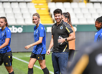 Head coach Dennis Moerman of Club Brugge pictured during a female soccer game between Club Brugge Dames YLA and Standard Femina de Liege on the first matchday of the 2021 - 2022 season of Belgian Scooore Womens Super League , saturday 21 August 2021in Brugge , Belgium . PHOTO SPORTPIX   DAVID CATRY