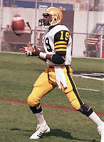 Johnny Shepherd Hamilton Tiger Cats 1983. Copyright photograph Scott Grant/