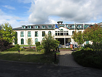 Pictured:<br /> Re: A man has died after falling from the window of four-star hotel The Vale Resort in Hensol, Vale of Glamorgan, Wales, UK<br /> South Wales Police was called to , just before 5.40am on Friday to reports a man, believed to be in his 20s, who had fallen to his death.<br /> Police said his death was not being treated as suspicious and the coroner had been informed.<br /> The hotel is used as a base by both Wales' rugby and football teams.