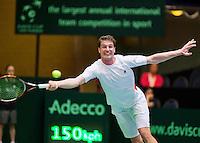 06-04-12, Netherlands, Amsterdam, Tennis, Daviscup, Netherlands-Rumania,    AndreiDaeccu